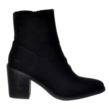 Rocket Dog Danni Chelsea Ankle Block Heeled Boot - Black Suede, Cinnamon Suede