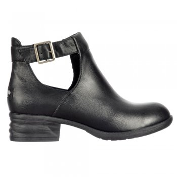 Rocket Dog Darye Derby Chelsea Cut Out  Ankle Boot With Buckles - Black, Dark Brown
