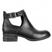 Darye Derby Chelsea Cut Out  Ankle Boot With Buckles - Black, Dark Brown