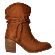 Deputy Western Ankle Boot - Black, Cinnamon
