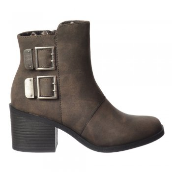 Rocket Dog Dundee Ankle Boots - Double Buckle - Grey