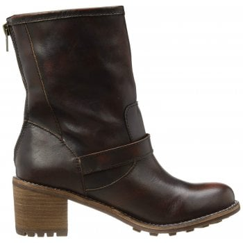 Rocket Dog Edmond Buckled Biker Ankle Boot - Brown, Chocolate