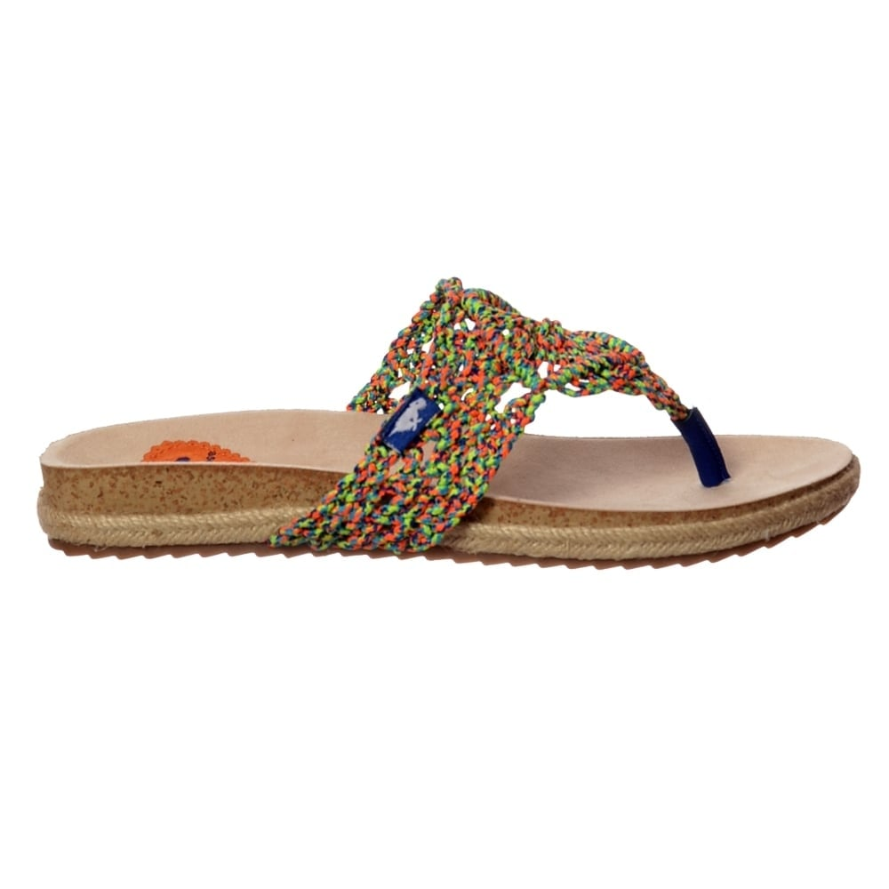 Rocket Dog Fairytale Macrame Flat Rope Flip Flop Sandal - Natural. ‹