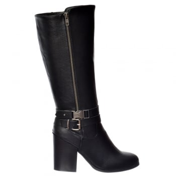 Rocket Dog Hewitt Knee High Tall Riding Boot - Black Tan