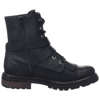 Rocket Dog Lacie Black Combat Boot