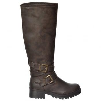 Rocket Dog Lainy Galaxy Knee High Block Heel Boot - Black, Brown