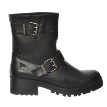 Rocket Dog Louis Chunky Biker Ankle Boot - Black, Dark Brown