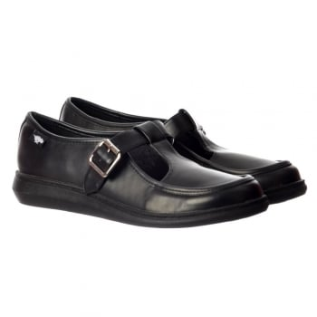 Rocket Dog Macey Playhouse Shoe Flats - Black PU