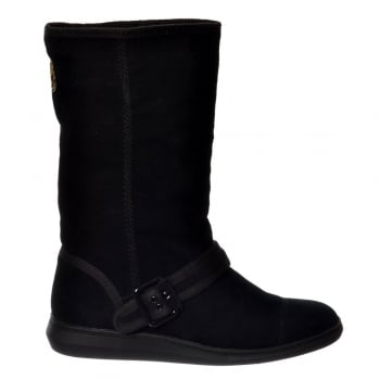 Rocket Dog Mendy Flat Warm Fleece Lined Winter Boot - Black