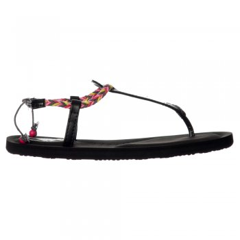Rocket Dog Onella Journey - Flip Flops Braided Sandals - Black, Tan