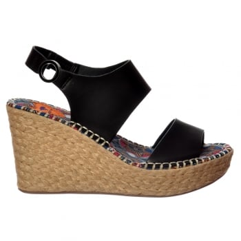 Rocket Dog Roslyn Wedge Sandal - Woven Black