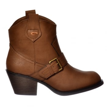 Rocket Dog Ruben Ankle Boot - Brown Oliver PU