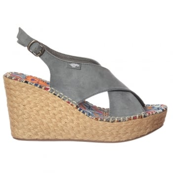 Rocket Dog Rue Womens Sandals. Ladies/Womens Strappy Wedge Platform Sandals. Featuring Buckle Fastening Ankle Strap, Peep Toe With Logo Tab To The Upper. Perfect Summer Shoes Ideal For Your Holidays