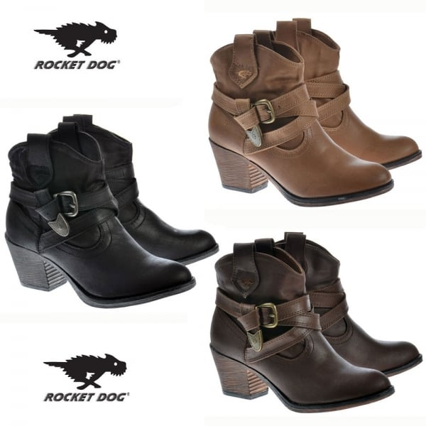 e585fd20a8d ... Rocket Dog Satire Rider Fabric Ankle Cowboy Western Boots - Black. ‹