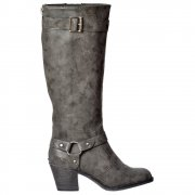 Sebastian Mclaren Knee High Heeled Winter Boot - Whiskey, Charcoal