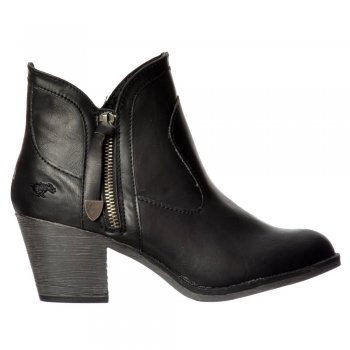 Rocket Dog Sidney Bromley Western Block Heel Ankle Boot - Black, Brown, Whiskey