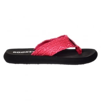 Rocket Dog Spotlight Lima Crochet Flip Flops