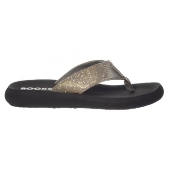 Rocket Dog Spotlight Odyssey Flip Flops - Black Glitter
