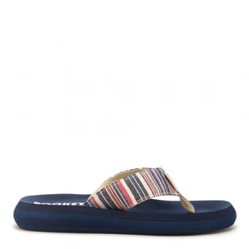 Rocket Dog Spotlight Roads Multi Stripe Flat Flip Flop