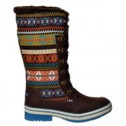 Rocket Dog Suri Winter Snow Boot - Tribal Brown, Black