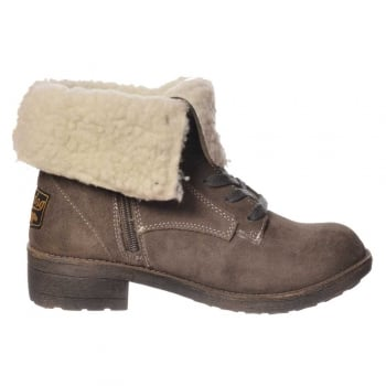 Rocket Dog Tacey Fleeced Winter Ankle Boot - Rust, Drizzle