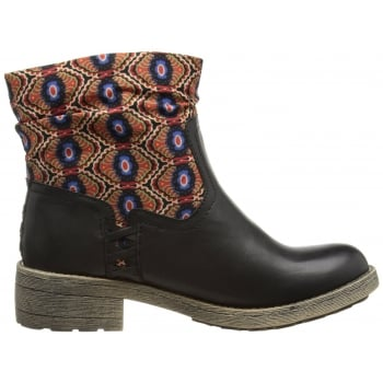 Rocket Dog Tahira Ankle Boot with Contract Fabric Shaft
