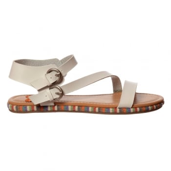 Rocket Dog Tailspin Coronado - Flat Cross Over Summer Sandal - Black, White, Toffee