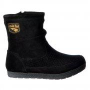 Taylor Fleeced Fur Lined Flat Suede Ankle Boot - Black, Tribal Brown, Chestnut