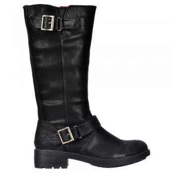 Rocket Dog Terry Vintage Worn / Bromley Flat Mid Calf High Biker Boots - Brown, Black Vintage or Bromley