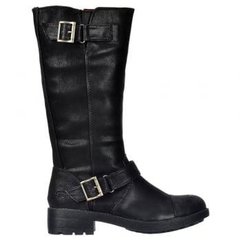 Rocket Dog Terry Vintage Worn / Bromley Flat Mid Calf High Biker Boots - Brown, Black Vintage or Bromley