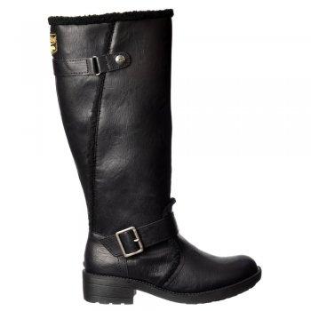 Rocket Dog Teyla Stable Fur Trimmed Tall Knee High Flat Winter Boot - Black, Dark Brown, Pecan