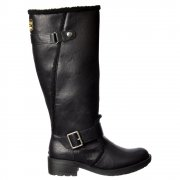 Teyla Stable Fur Trimmed Tall Knee High Flat Winter Boot - Black, Dark Brown, Pecan