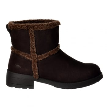 Rocket Dog Thurston Faux Fur Lined Winter Ankle Boot - Chocolate