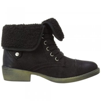 Rocket Dog Tiffany Burnie Shearling Lace Up Ankle Boot
