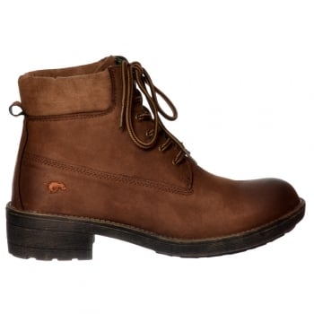 Rocket Dog Tillie Combat Lace Up Ankle Boot - Chestnut, Grey, Black