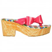 Tommie Liquid - Wedge Platform Flip Flops - Passion Pink