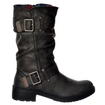 Rocket Dog Trumble Biker Boot - Black Lewis, Black Galaxy, Brown Galaxy