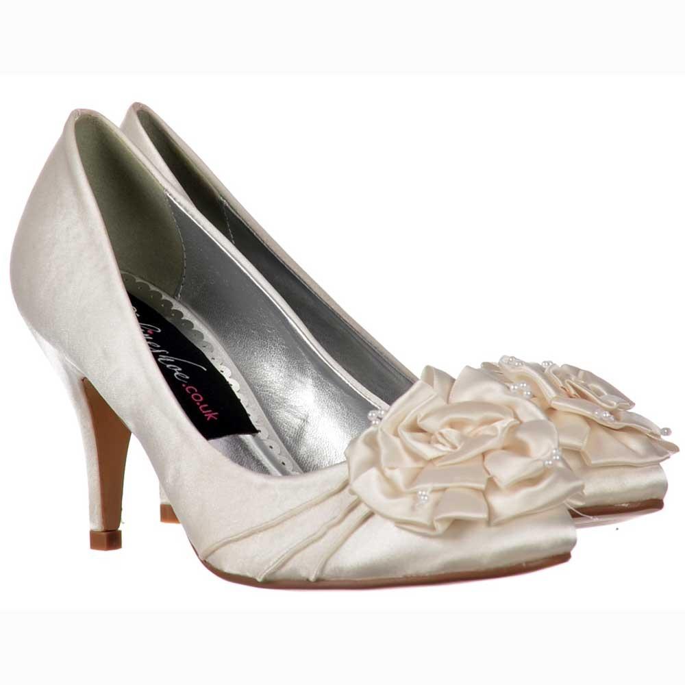 Wedding Kitten Heels: Shoekandi Bridal Wedding Low Kitten Heel Shoes