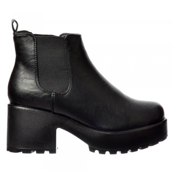 Shoekandi Classic Chelsea Boot - Cleated Sole Elasticated Sides - Black