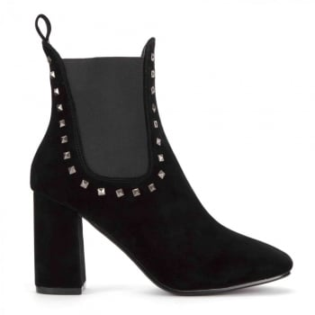 Shoekandi Classic Chelsea Boot Elasticated Sides - Studded Detail