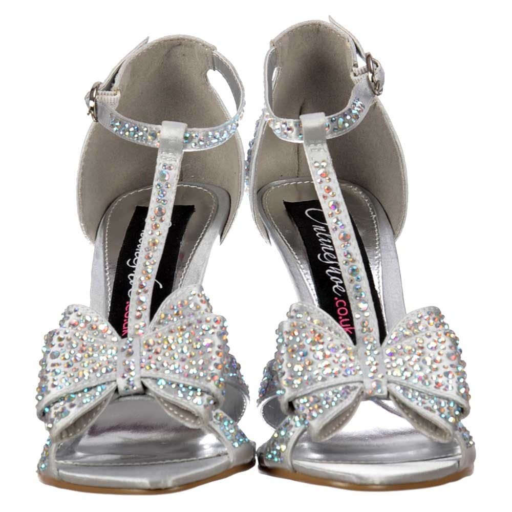 Silver Occasion Shoes Uk