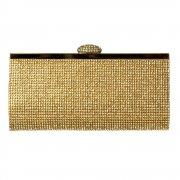 Evening Clutch Diamante Handbag Purse - Gold Diamante, Silver Diamante, Black Diamante