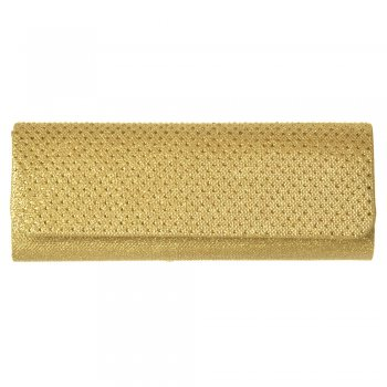 Shoekandi Evening Clutch Handbag Purse - Sparkly Gold Diamante, Silver Diamante
