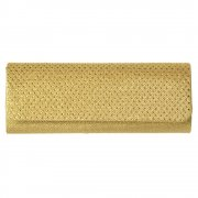 Evening Clutch Handbag Purse - Sparkly Gold Diamante, Silver Diamante