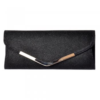 Shoekandi Evening Clutch Purse Handbag - Sparkly - Gold, Silver, Black