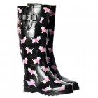 Funky Flat Wellie Wellington Festival Rain Boots - Yorkie Dog