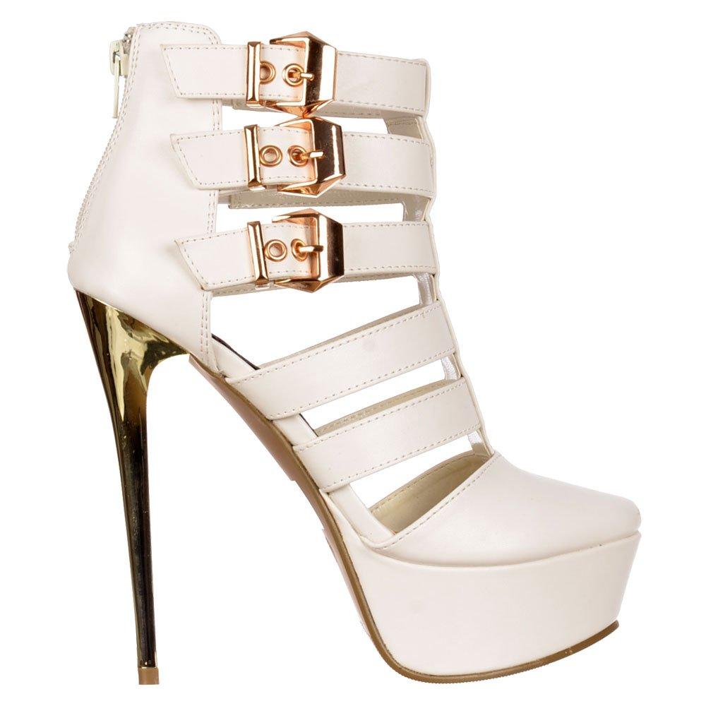 shoekandi gladiator high heel stilettos cut out ankle