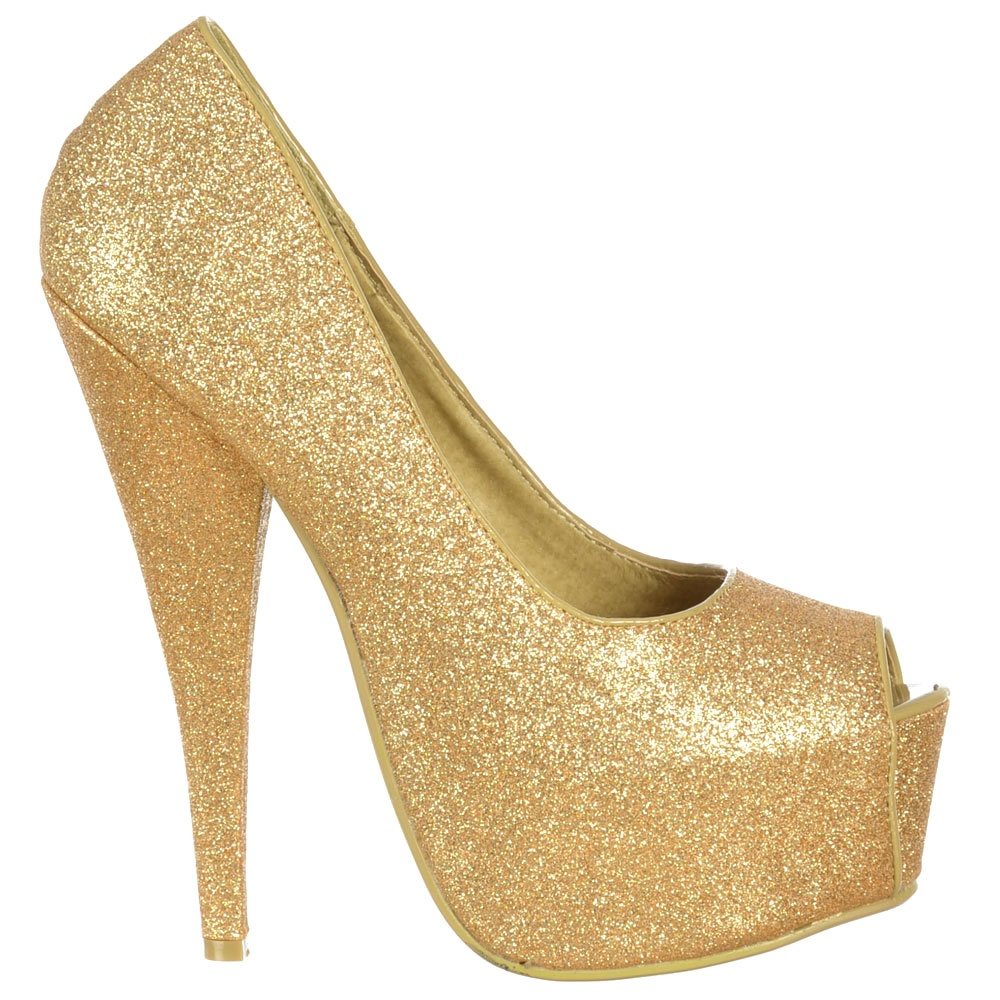 Sparkly Gold Shoes Uk