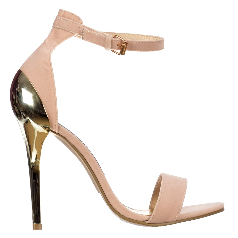 Nude Heels With Gold