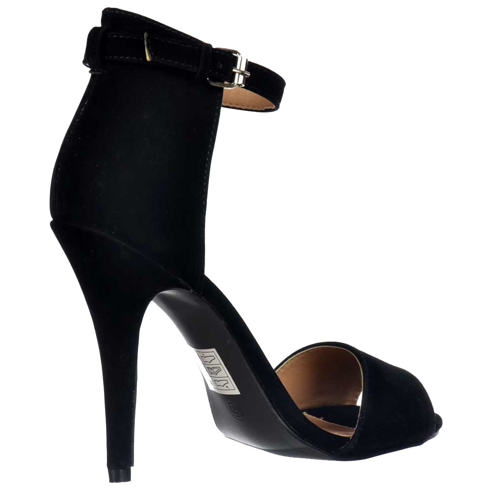 Strappy Heels Black - Is Heel
